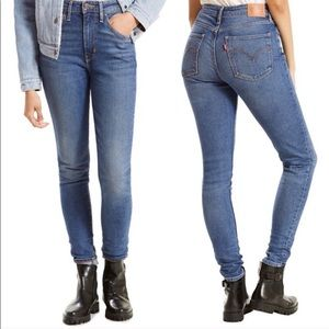 Levi's Mid Wash 721 High Rise Skinny Jeans Size 27